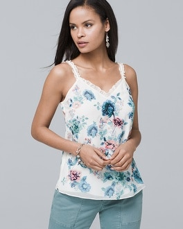 df896c649e9314 mixed-media-floral-cami by whbm