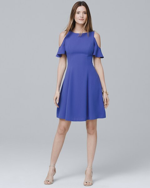 d7097f1a74c Return to thumbnail image selection Cold-Shoulder Fit-and-Flare Dress video  preview image