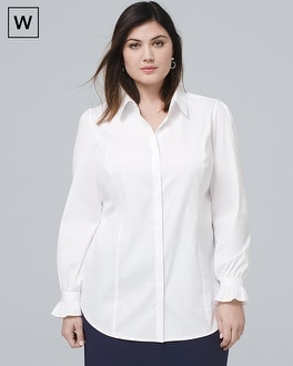 White House Black Market Plus Abigail Poplin Shirt at White House | Black Market in Sherman Oaks, CA | Tuggl