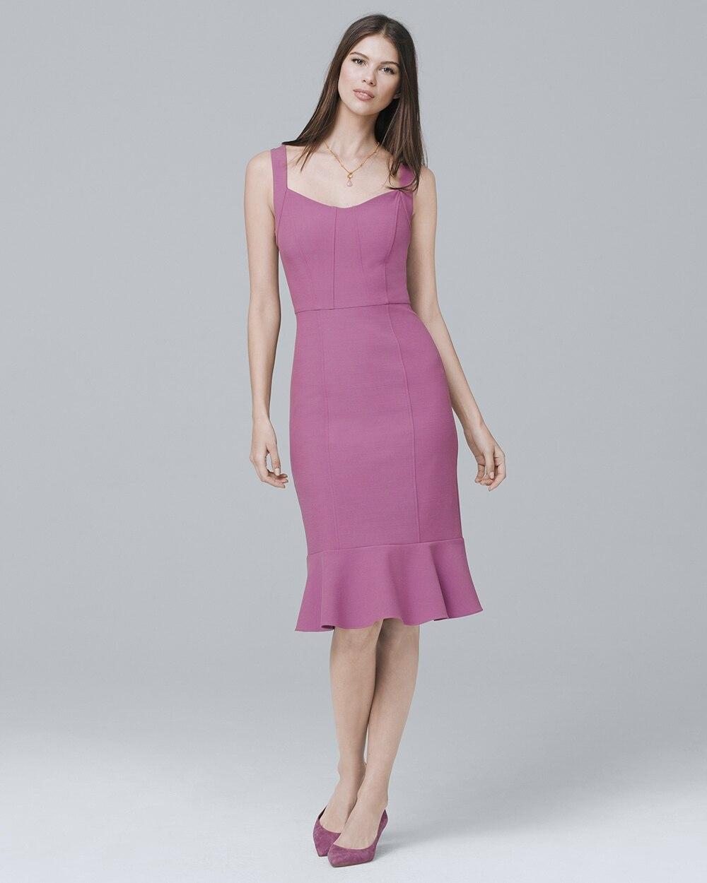 a993f285f5 Body Perfecting Flounce Hem Sheath Dress - White House Black Market