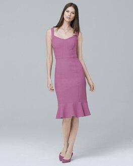 White House Black Market Body Perfecting Flounce Hem Sheath Dress at White House | Black Market in Sherman Oaks, CA | Tuggl