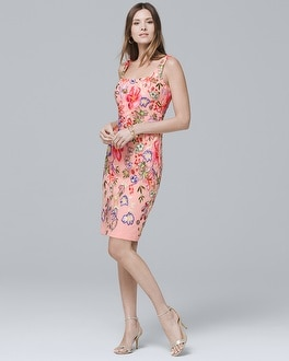 White House Black Market Floral-Embroidered Sheath Dress at White House | Black Market in Sherman Oaks, CA | Tuggl