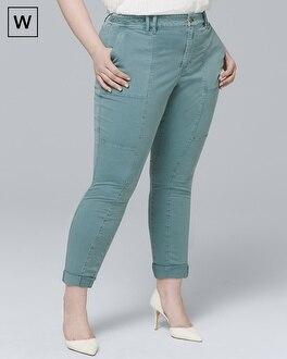White House Black Market Plus Straight Crop Jeans at White House | Black Market in Sherman Oaks, CA | Tuggl