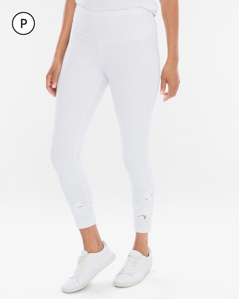 Zenergy So Slimming Petite Embroidered Crop Leggings