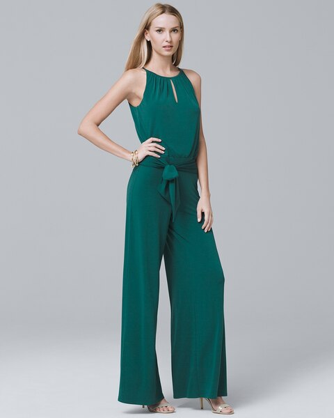 a745f0b3cfbb Return to thumbnail image selection Wide-Leg Keyhole Jumpsuit video preview  image