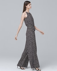 a799ccd3dae Wide-Leg Keyhole Printed Jumpsuit - White House Black Market