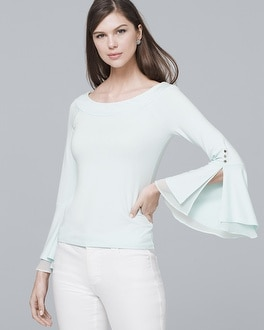 White House Black Market Bell-Sleeve Knit Top at White House | Black Market in Sherman Oaks, CA | Tuggl