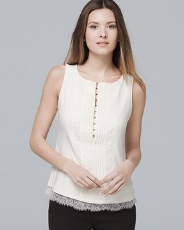 Lace Hem Shell by Whbm