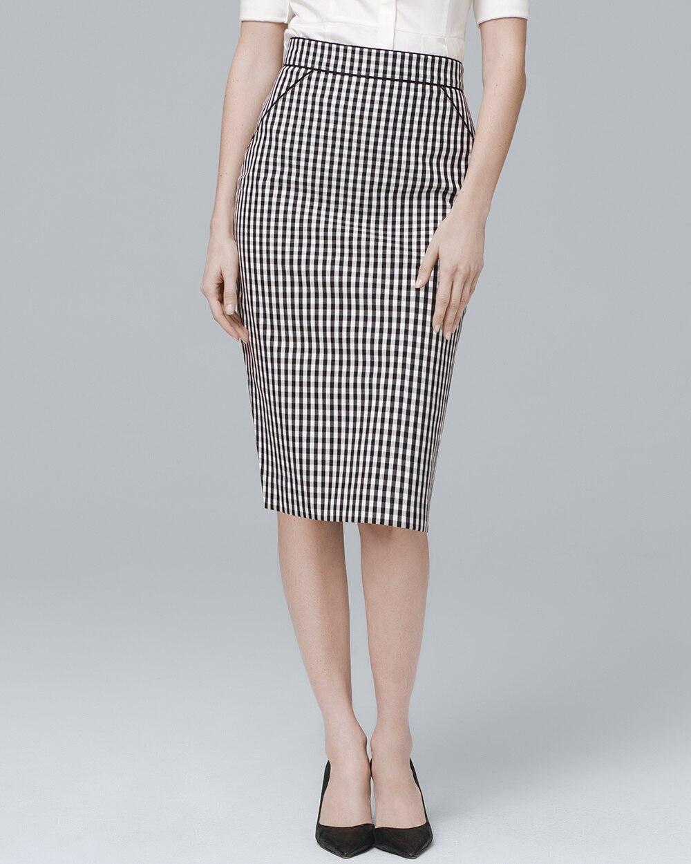 70f568267a1 Gingham Pencil Skirt - White House Black Market