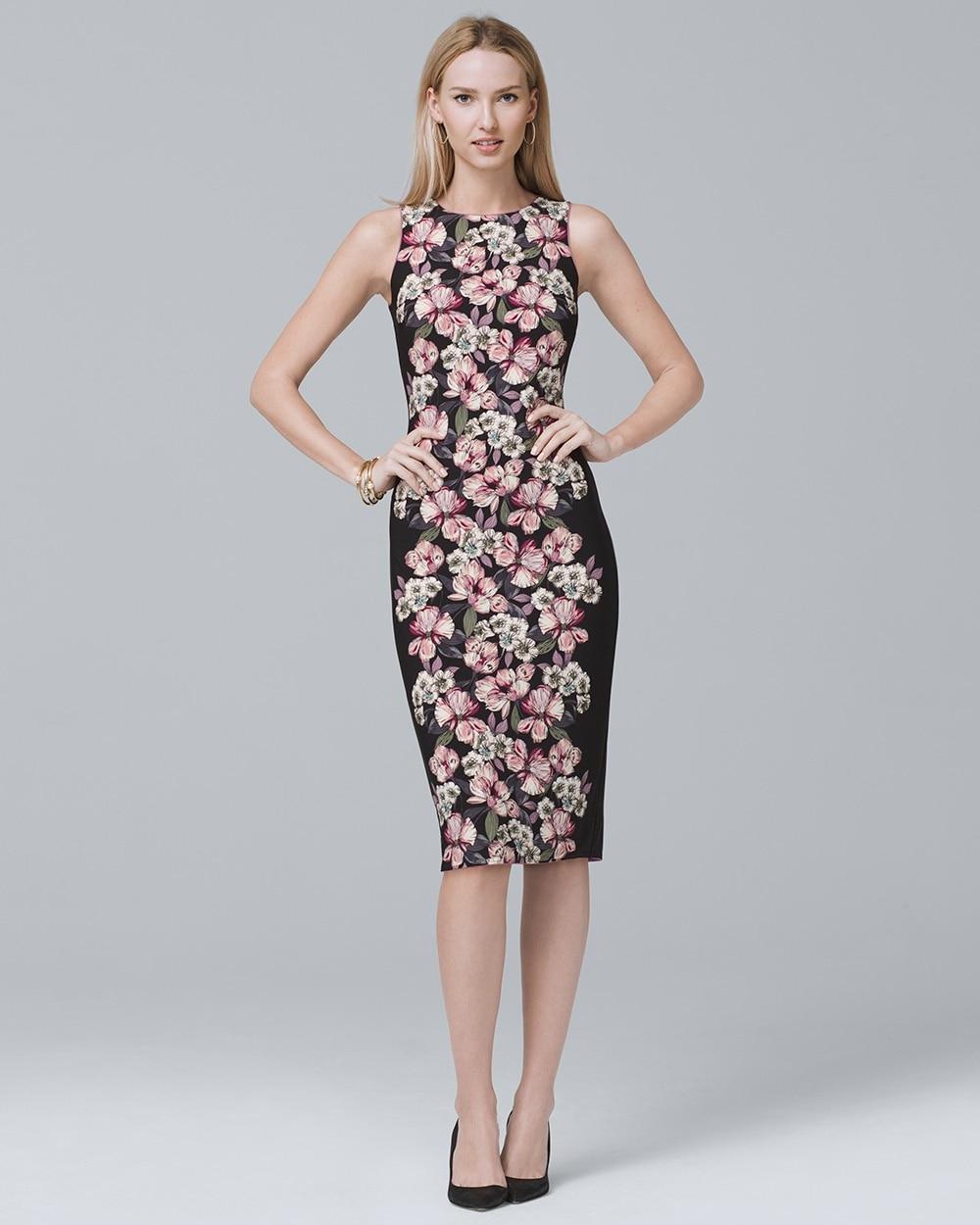 Reversible Fl Print Sheath Dress