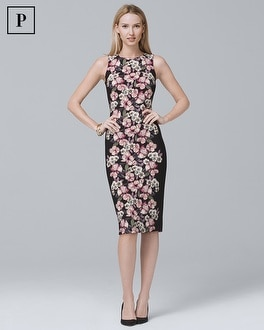 White House Black Market Petite Reversible Floral-Print Sheath Dress at White House | Black Market in Sherman Oaks, CA | Tuggl