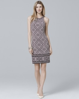 White House Black Market Reversible Sleeveless Printed Knit Shift Dress at White House | Black Market in Sherman Oaks, CA | Tuggl