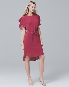 Flounce Sleeve Soft Shift Dress by Whbm