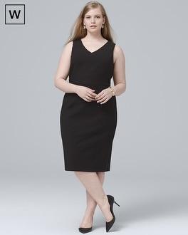 White House Black Market Plus Body Perfecting Black V-Neck Seamed Sheath Dress at White House | Black Market in Sherman Oaks, CA | Tuggl