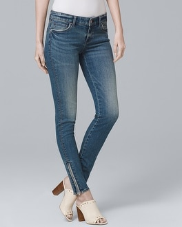 Zip Detail Skinny Ankle Jeans by Whbm