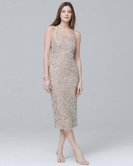 Sleeveless Sequin Sheath Dress at White House | Black Market in Canoga Park, CA | Tuggl