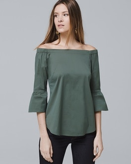 Off The Shoulder Bell Sleeve Top by Whbm