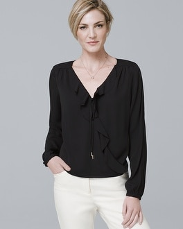 White House Black Market Surplice Blouse at White House | Black Market in Sherman Oaks, CA | Tuggl