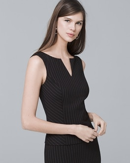 White House Black Market Sleeveless Pinstripe Bodice Top at White House | Black Market in Sherman Oaks, CA | Tuggl