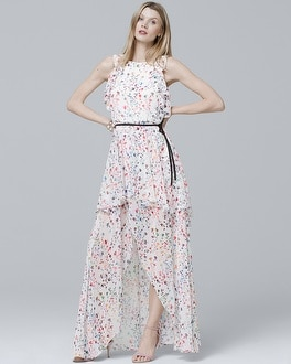 Floral High-Low Maxi Dress | Tuggl