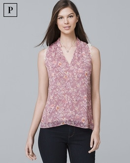 Petite Floral Print  Shell by Whbm