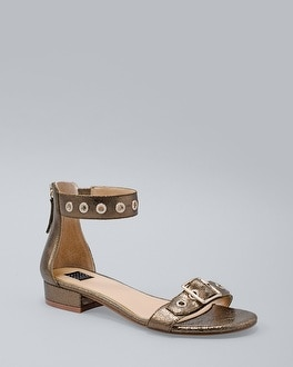 Metallic Leather Sandals by Whbm