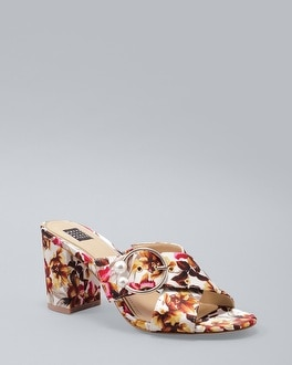 Floral Satin Cross Band Mules by Whbm