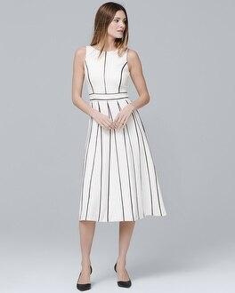 White House Black Market Sleeveless Seamed Fit-and-Flare Dress at White House | Black Market in Sherman Oaks, CA | Tuggl