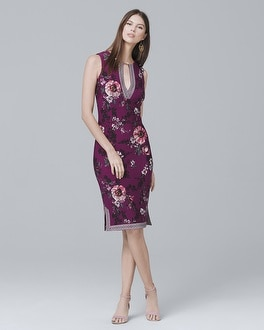 White House Black Market Reversible Floral Knit Sheath Dress at White House | Black Market in Sherman Oaks, CA | Tuggl