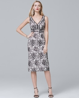 Sleeveless Floral-Lace Sheath Dress at White House | Black Market in Sherman Oaks, CA | Tuggl