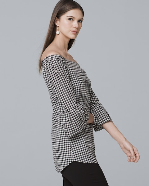 2f22d407ba2 Return to thumbnail image selection Gingham Off-the-Shoulder Blouse