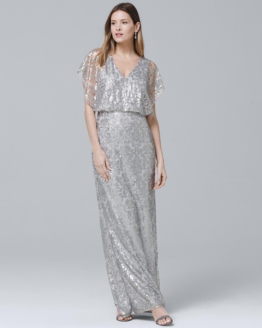0a47a94ffbe Sequin Blouson Gown - White House Black Market