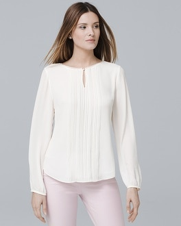 Pintucked Blouse by Whbm