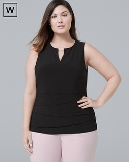 Plus Matte Jersey Layering Shell Top by Whbm