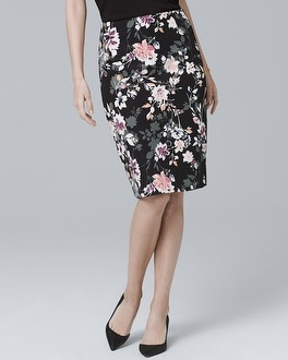 Floral Print Pencil Skirt by Whbm
