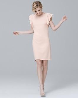 Flutter Sleeve Sheath Dress by Whbm