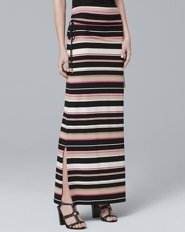 White House Black Market Convertible Stripe Maxi Skirt at White House | Black Market in Sherman Oaks, CA | Tuggl