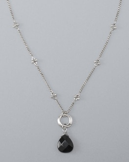 Onyx Short Pendant Necklace by Whbm