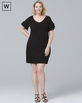 Plus Tiered Sleeve Knit Shift Dress | Tuggl