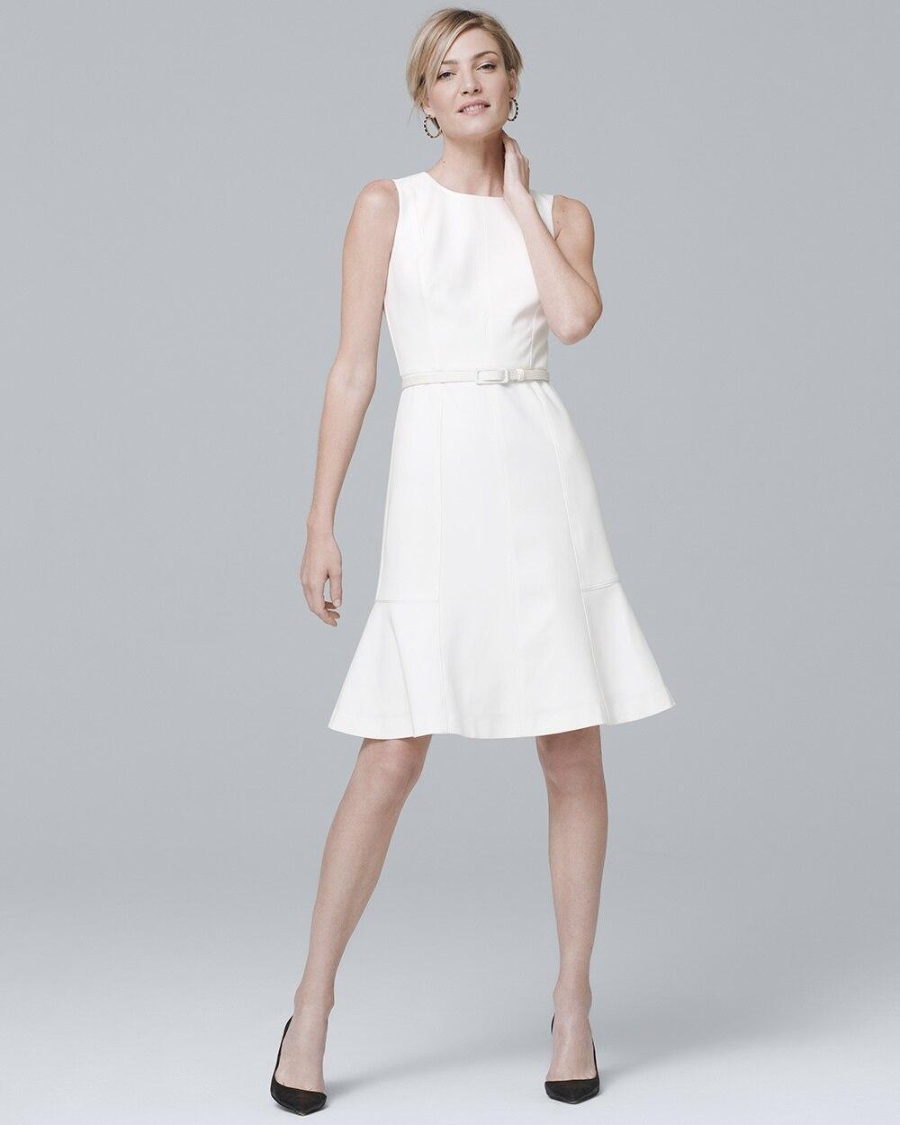 7c3d9e15f3d Belted A-Line Dress - White House Black Market