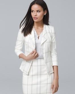 Windowpane Suit Jacket by Whbm
