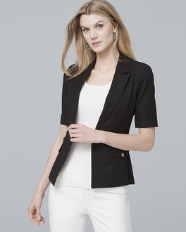 Short Sleeve Suit Jacket by Whbm