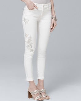 Embroidered Skinny Crop Jeans by Whbm