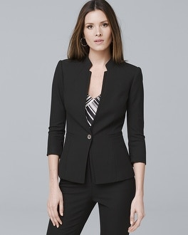 Honey Dobby Textured Suit Jacket | Tuggl