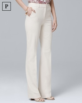 Petite Honey Dobby Textured Bootcut Pants by Whbm