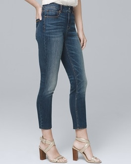 High-Rise Skinny Crop Jeans | Tuggl