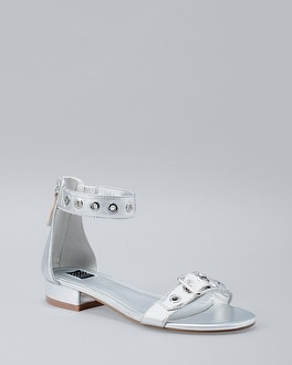 Metallic Leather Sandals | Tuggl