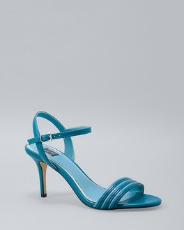 Patent-Stripe Leather Heels | Tuggl