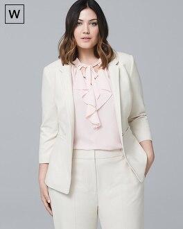 Plus Honey Dobby Textured Suit Jacket | Tuggl