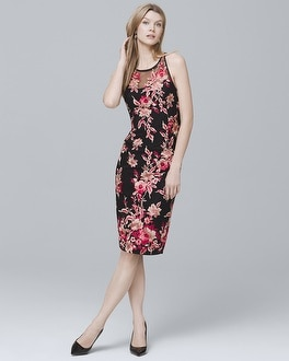 Embroidered Mesh Sheath Dress by Whbm